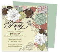 publisher invitation templates for birthdays