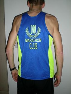 100 marathon club vest- can't imagine being in this club!!!