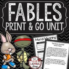 Fables is possibly one of my favorite genres to teach children! I created a packet that will work wonderfully for your students in learning and studying this genre. Your kids will love reading, showing their comprehension skills, and creating their very own story!