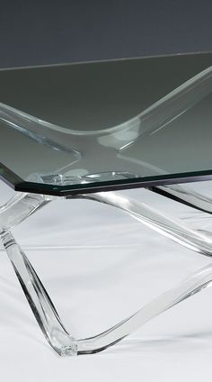 beautiful square lucite coffee table clear glass top with cut
