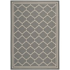Found it at Wayfair - Courtyard Grey / Beige Outdoor Rug