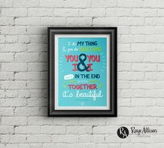 Boy Meets World - It's Beautiful - Quote poster - Handlettered printable quote art wall decor - Instant download