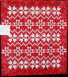 """Sweater Weather by Betty R. Lawson.  Photo by Quilting Bear Gal: 2013 Trinity Valley Quilt Guild show.  The pattern is """"Christmas Spirit"""" by Sherri K. Falls at This & That Patterns:  http://www.thisandthatpatterns.com/books.php"""