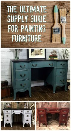 A complete guide and supply list for everything you need to paint furniture.