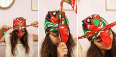 how to tie a headscarf into a turban (in french, but with easy to follow photos!)