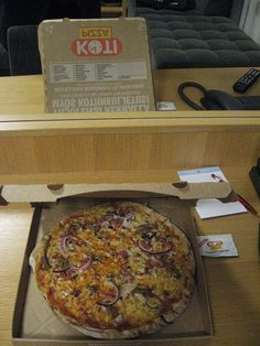 Pizza Berlusconi, so-called 'best pizza in the world', from Finnish pizza chain Kotipizza.