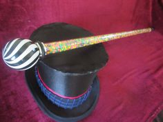 Willy Wonka Cane Replica Cosplay Prop - Tim Burton Charlie and the Chocolate Factory