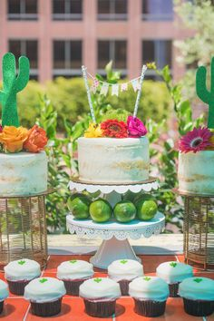 A classy fiesta bridal shower #cactus