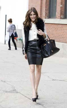 Olivia Palermo .... Time to take out my furry vest!