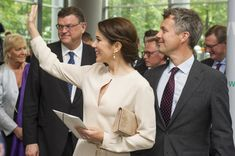 Crown Prince Frederik and Crown Princess Mary of Denmark Visit Germany