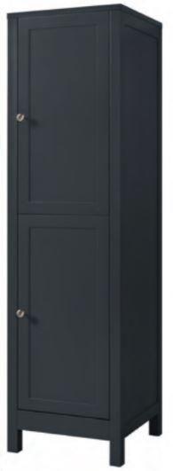 Shadow Grey Elegance Collection - Shadow Grey Elegance tall boy 2 door (Code: EXQ4174) 390w x 1420h x 390d mm