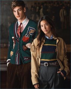 Polo ralph lauren rounds up a handsome lot of models for its fall-winter 2018 campaign. Polo Ralph Lauren, Ralph Lauren Style, Preppy Boys, Preppy Fall, Hipster Boys, Estilo Folk, American Casual, Estilo Preppy, Ivy League Style