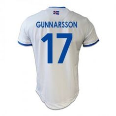 9761acb36 Iceland National Team Euro Jersey 2016 17 Away Soccer Shirt  17 Gunnarsson   E556
