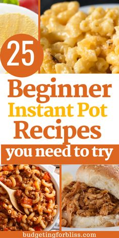 Instant Pot Pressure Cooker, Pressure Cooker Recipes, Delicious Meals, Yummy Food, Recipes For Beginners, Macaroni And Cheese, Dinner, Cooking, Simple