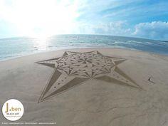 Beach art, land art, dji phantom