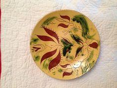 Breininger Sgraffito Redware Plate 1984 10 1 4''   eBay