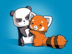 Panda Hug | Funny, cute & nerdy shirts | TeeTurtle