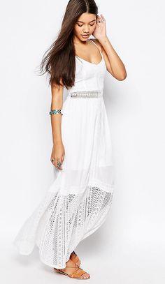 Outfit donna · E ora largo allo shopping!Vestito Asos ungo con spalline e  gonna a. f118513b3e2