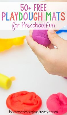 50 FREE Playdough Mats for Preschool Fun
