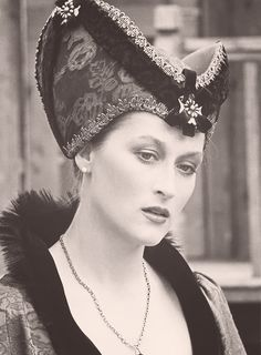 Meryl Streep in a theater production of Henry V, 1976.