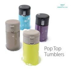 Check out our very popular pop tops. These are our famous travel mugs, they literally keep your beverage hot for 8 hours and cold well forever .  Each are $40 pluses shipping and taxes. Throw a party and don't pay anything