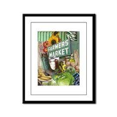Farmers Market Framed Panel Print