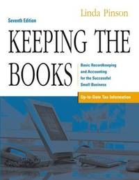 Keeping the Books: Basic Recordkeeping and Accounting for the Successful Small Business by Pinson, Linda - Accounting Books, Cost Accounting, Free Books Online, Books To Read Online, Online Bookkeeping, Managerial Accounting, Any Book, Used Books, Paperback Books