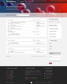 Lumiere phpBB Style, Premium phpBB3 theme from RocketTheme