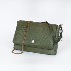 Genuine green python mini bag by GLENI