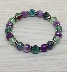 ~ Bracelets by Karen ~ Fluorite with Silver Spacers