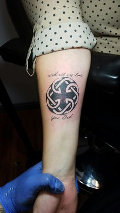 Father daughter tattoo represented by the st brighid 39 s for Memorial tattoos for daughter