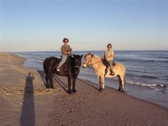 Things to Do in Hatteras: Horseback Riding on the Beach!