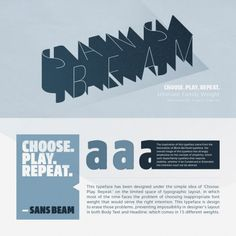 Sans Beam font family by Stawix Ruecha from 2016.