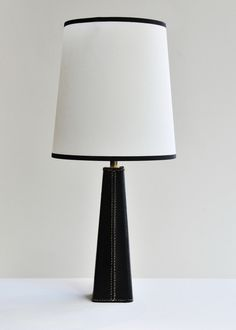 1950's French Stitched Leather Table Lamp | Rose Uniacke