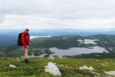 Utsikt mot sør. Nordstulvannet nærmest. Bak Flætebakkfjellet ser vi Follsjø og helt bak skimter vi Heddalsvannet. Mountains, Nature, Travel, Viajes, Naturaleza, Destinations, Traveling, Trips, Bergen
