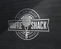 Branding for Waffle Shack.  #Branding #Food #Waffles #Vector #LogoDesign #Artisan #Logo #Logotype #Foodtruck #GraphicDesign #Brand #Sign #Retail #Badge #Typography #ID #Identity #BrandIdentity #MartinEpelde #Delicca