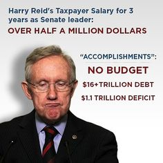 No moral character or integrity.  Please Nevada....vote him out...!!!  HERE IS A THOUGHT....IF CONGRESS DOES NOT DO THEIR JOB...AS IN PUTTING FORTH A BUDGET...OR WHATEVER...THEY DON'T GET PAID.   RETROACTIVE WOULD BE GOOD.     OUST 'ALL' THE OLD TIMERS.   THEY HAVE ALL BEEN CORRUPTED.