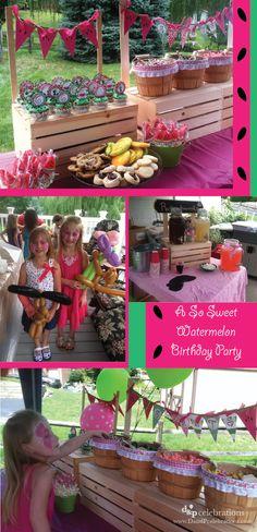 So Sweet Watermelon Birthday Party by www.dandpcelebrations.com