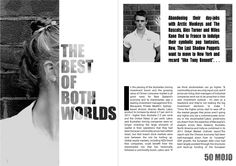 """Remake of """"Best of Both Worlds"""" double page spread - MOJO"""