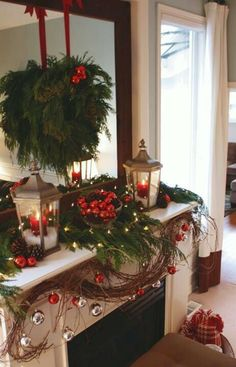 Christmas... I want to do this to my fireplace!