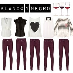 A fashion look from September 2012 featuring zip jeans, River Island and handbag purse. Browse and shop related looks. Chic Outfits, Fall Outfits, Fashion Outfits, Outfit Pantalon Vino, Burgundy Pants Outfit, Wine Pants, Outfits Leggins, Colored Jeans, Casual Looks