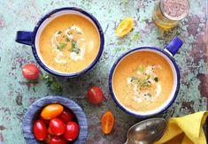 12 jéghideg leves a hőség ellen Gazpacho, Thai Red Curry, Cantaloupe, Soup, Fruit, Cooking, Ethnic Recipes, The Fruit, Kochen