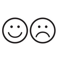 Happy and sad face icons vector Happy Face Icon, Sad Tattoo, Diy Montessori Toys, Face Doodles, Mini Drawings, Face Illustration, Sad Faces, Paper Design, Smiley