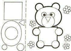 Figuras geométricas Mathematics Geometry, Basic Geometry, Montessori Activities, Kindergarten Activities, Animal Crafts For Kids, Art For Kids, Teaching Shapes, Shape Games, Kids Math Worksheets