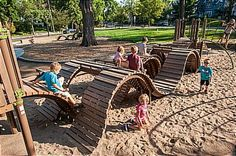 Check out our #Playground of the Month: Joanne R. Levin Park in Minneapolis! Wavy & whimsical #play for ages 2 to 12.