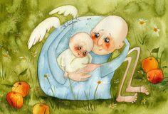 Pinzellades al món: Il·lustracions d'àngels / Ilustraciones de ángeles / Illustration of angels