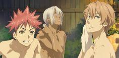『食戟のソーマ』TVアニメ公式  クライマックスを迎える『食戟のソーマ』を特集を 描きおろしイラストと共にご紹介! ソーマたち 男性陣のお風呂に突撃しちゃいました!#shokugeki no soma