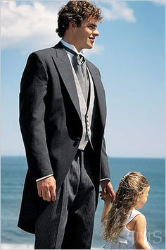 Champaign's In-stock tuxedo specialists- Ducky's Formal Wear, Chaps Ralph Lauren Somerset Cutaway Tuxedo Tuxedo Wedding, Wedding Suits, Wedding Attire, Wedding Groom, Gatsby Wedding, Wedding 2015, Wedding Ceremony, Reception, Morning Coat