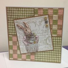 rabbit easter card stampendous