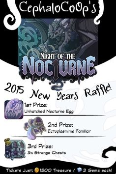 Night of the Nocturne raffle for Flight Rising. CephaloCoOp hosting a raffle to win a Nocturne dragon egg.